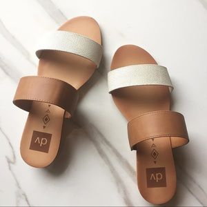 NWOT DV Target Bailey Cork Wedge Slide Sandals
